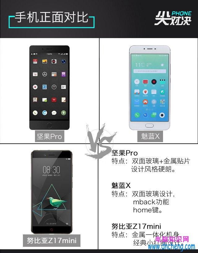 1500元檔手機怎麼選 堅果Pro/魅藍X/努比亞Z17mini對比評測