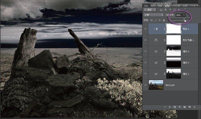 Photoshop調出風景照片冷色效果圖,三聯