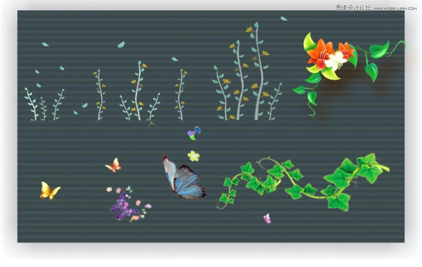 Photoshop制作春季連體藝術字教程,PS教程,思緣教程網