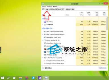 Win10任務管理器性能小窗口模式的使用方法